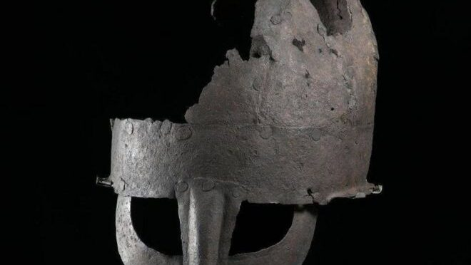 Yarm Viking helmet 'first' to be unearthed in Britain