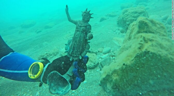 A 1,600-year-old cargo of a Roman merchant ship has been discovered in Caesarea
