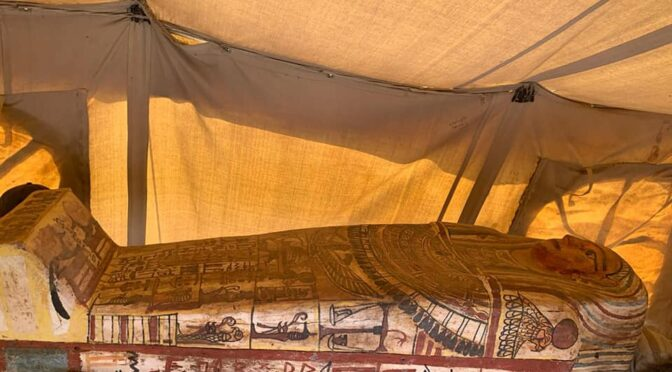 14 Fully Intact and Sealed Coffins Discovered after 2,500 Years in Egypt's Saqqara