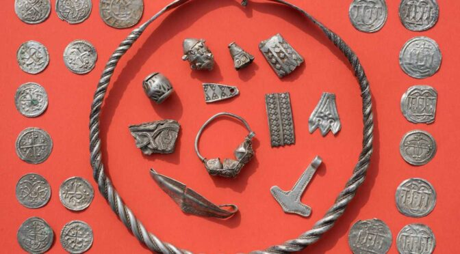 A 13 Year old just Discovered 1,000-year-old silver treasure hoard in Denmark