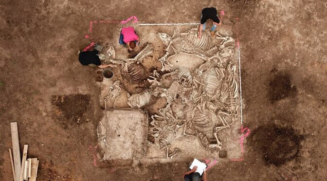 Ancient Germanic lord was buried with a circle of six women