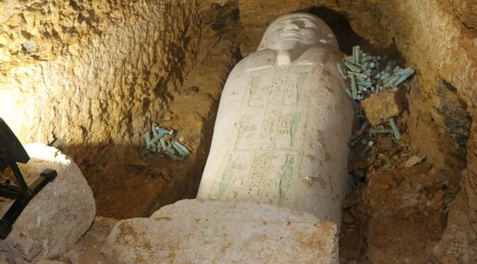 Sarcophagus of 26th-Dynasty Priest Found in Upper Egypt