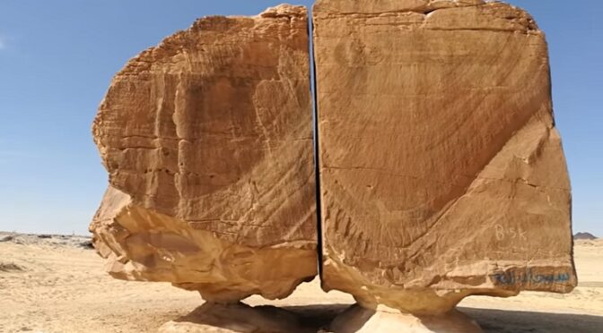 A massive 4,000-year-old monolith split with laser-like precision