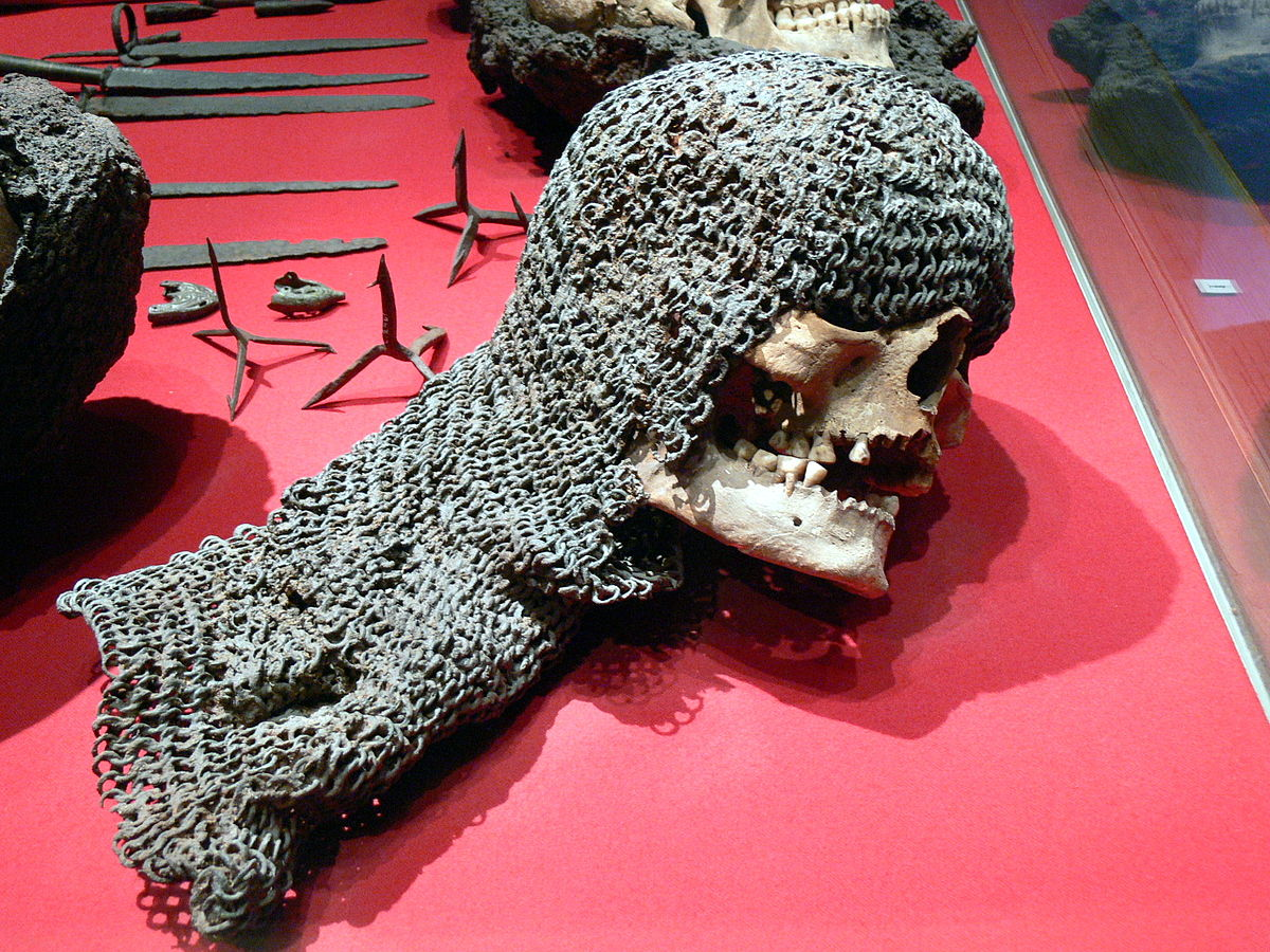 A medieval victim still in his chainmail discovered