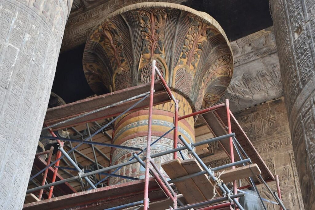 2,000 Years old Colourful Artworks Revealed in Egypt's Temple of Esna