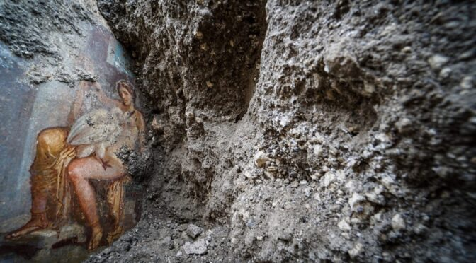 Archaeologists discovered ancient bedroom 'erotica' art in Pompeii