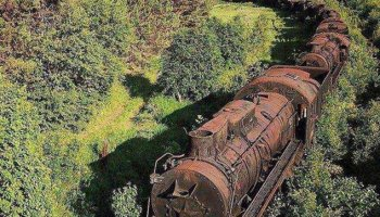 Eerie train graveyard gives a glimpse into the golden age of Soviet steam trains