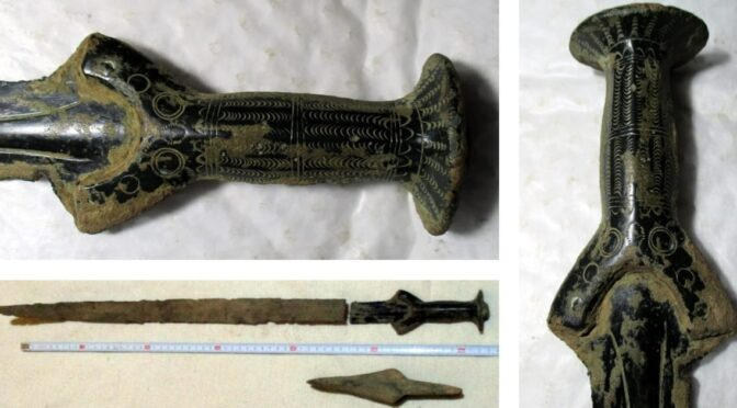 A man picking mushrooms in the Czech republic discovers a rare 3000-year-old sword