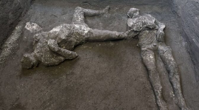 Remains of Two Killed in Vesuvius Eruption Are Discovered at Pompeii