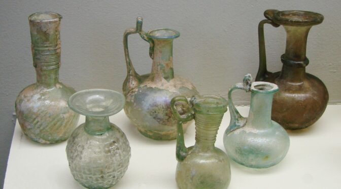 Intact Roman Glass Vase Discovered in France