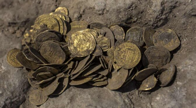 Stash of pure, 24-carat gold coins unearthed in Israel