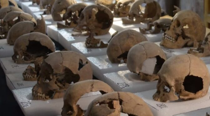 Infants from 2100 years ago found with helmets made of children's skulls