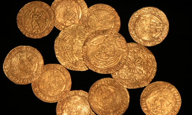 Hoard of Gold Tudor Coins Unearthed in England