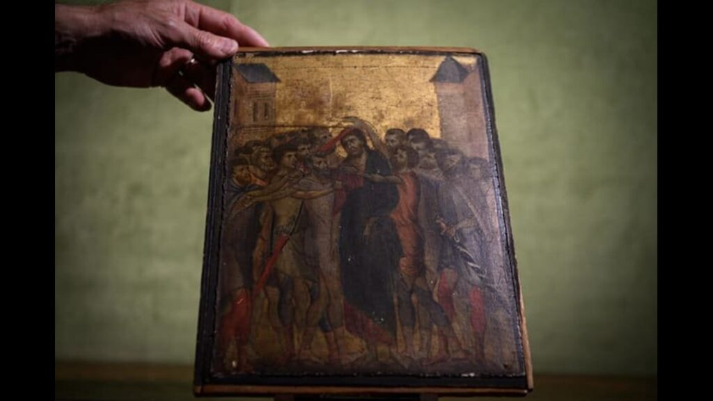 A $26M Cimabue masterpiece was found in an elderly woman's kitchen.