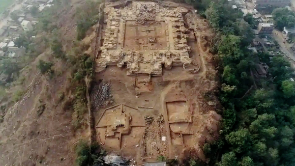 Hilltop Buddhist Monastery Uncovered in Eastern India