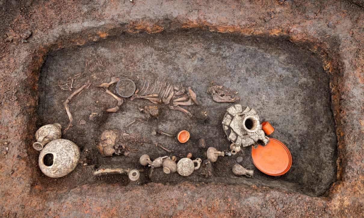2,000-year-old remains of infant and pet dog uncovered in France