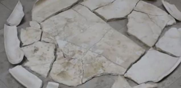 5th Century Roman Marble Table Unearthed in Bulgaria