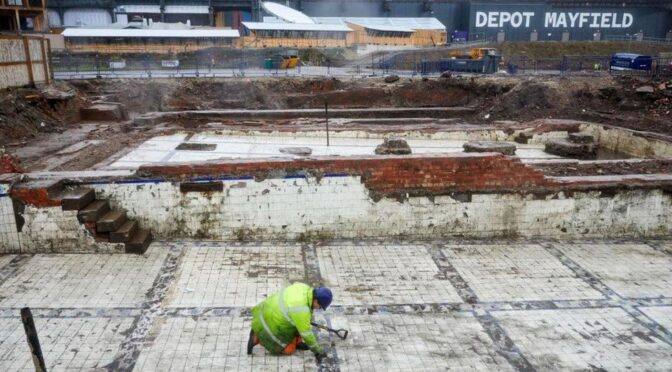 Manchester Victorian baths uncovered under the car park