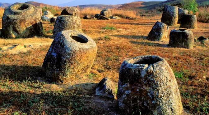 10-Foot-Tall Stone Jars 'Made by Giants' Stored Human Bodies in Ancient Laos