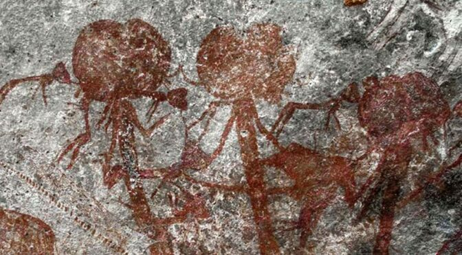 Tanzanian rock art reveals trios of mysterious anthropomorphic figures