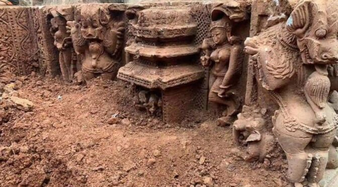 Traces of Tenth-Century Temple Unearthed in Eastern India