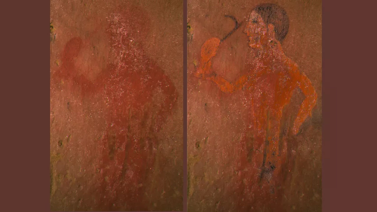 New technique reveals hidden detail in an ancient Etruscan painting