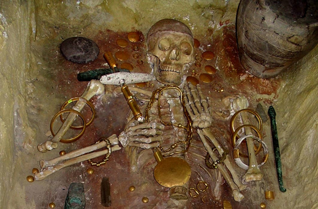 The Varna Man, who lived around the 5th Millennium BC, is the wealthiest burial at that time