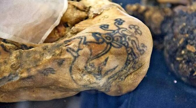 "This 2,500-year-old female mummy dubbed the ""Altai Princess"" is one of few known mummies with visible tattoos"