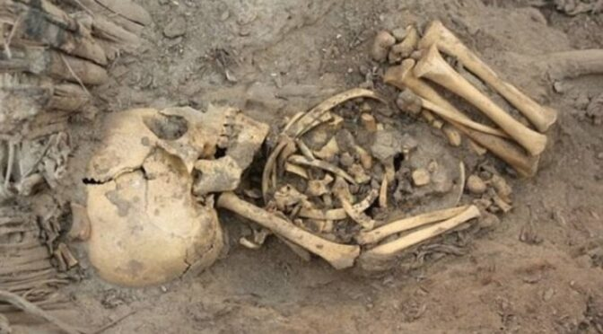 The discovery of a mass baby grave under a Roman bathhouse in Ashkelon, Israel