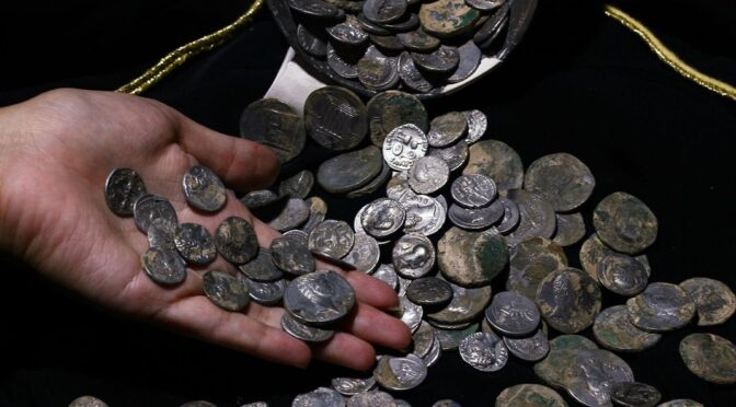 Roman Coins discovered in (U.S) Texas burial Mound
