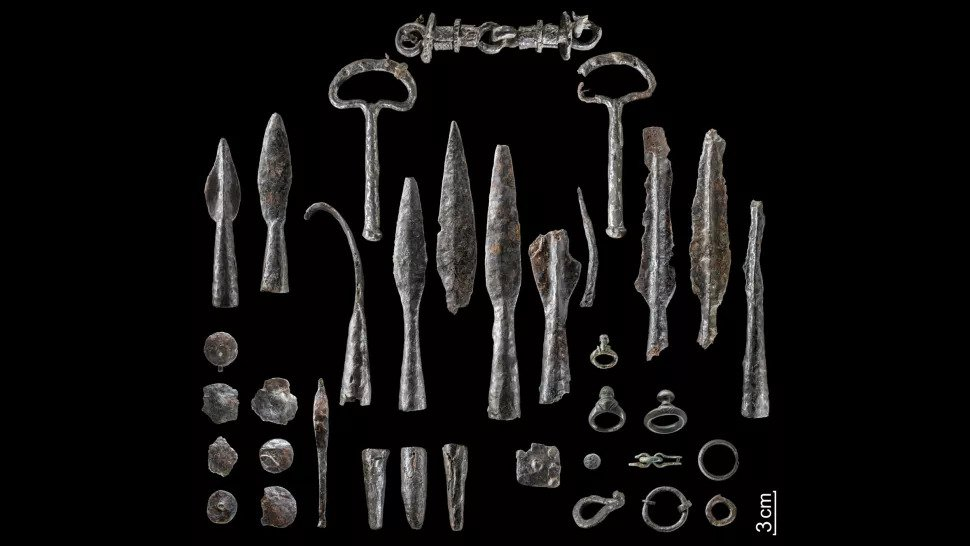 Iron Age Weapons Found at Hillfort Site in Germany