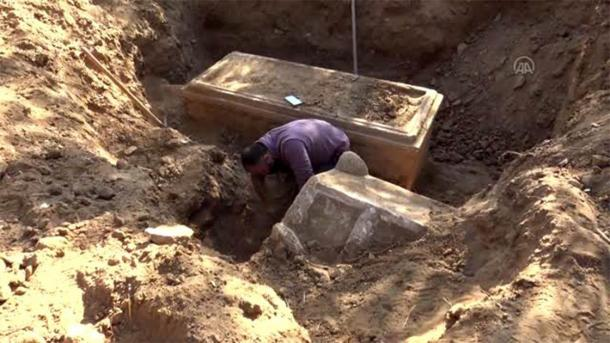 Late Roman Era Sarcophagus Found By Turkish Farmer