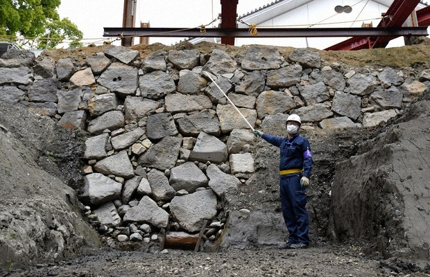Original 15th-Century Castle Wall Found in Tokyo
