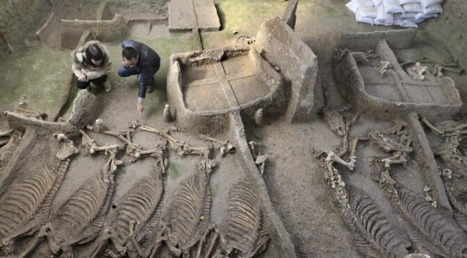 Ancient Chinese tomb dating back 2,500 years uncovered to shed light on the obscure kingdom