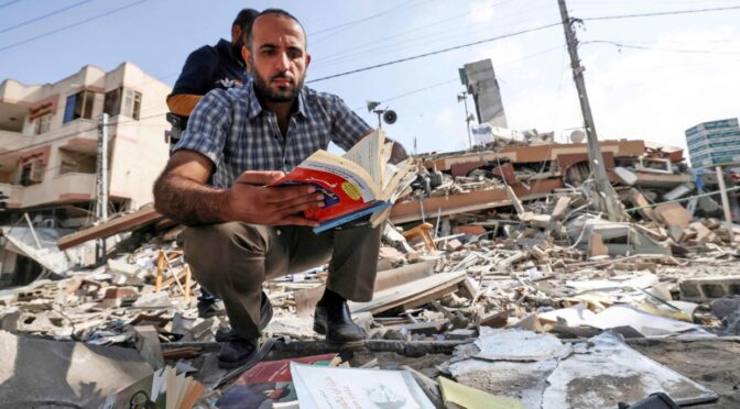 Beloved Gaza bookshop becomes a casualty of Israel-Hamas conflict