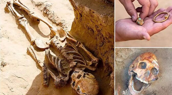 2,000-year-old remains of nomadic 'royal' unearthed by Russian farmer includes 'laughing man,' haul of jewels and weapons