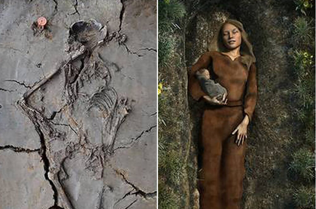 6,000-year-old baby found cradled in mother's arm