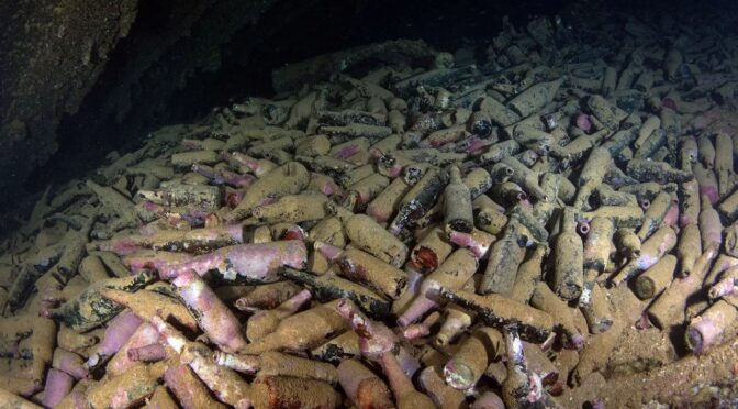 The treasure inside beer lost in a shipwreck 120 years ago