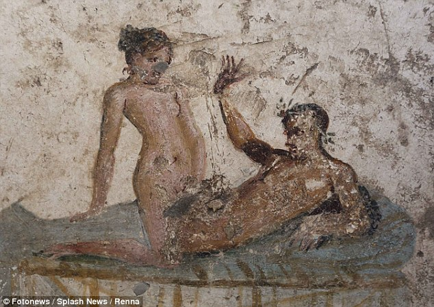 Pornographic Pompeii wall paintings reveal the raunchy services offered in ancient Roman brothels 2,000 years ago