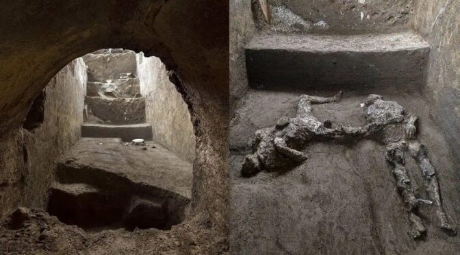 Pompeii dig uncovers 2000-year-old remains of rich man and slave killed by Vesuvius volcanic eruption