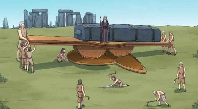 Huge Objects Could Have Been Moved by a Lifting Machine at Stonehenge and Egypt!