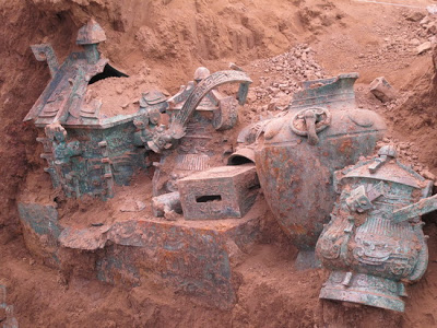 3000-year-old Wine Vessel Unearthed in Shaanxi