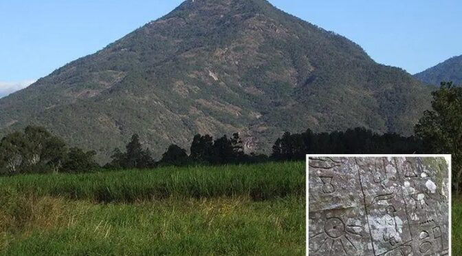 Did the Ancient Egyptians reach Australia? Archaeologists claim a MAN-MADE structure was built under this mountain 5,000 years ago