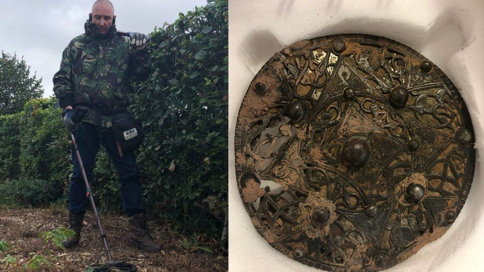 Anglo-Saxon Silver Brooch Recovered in England