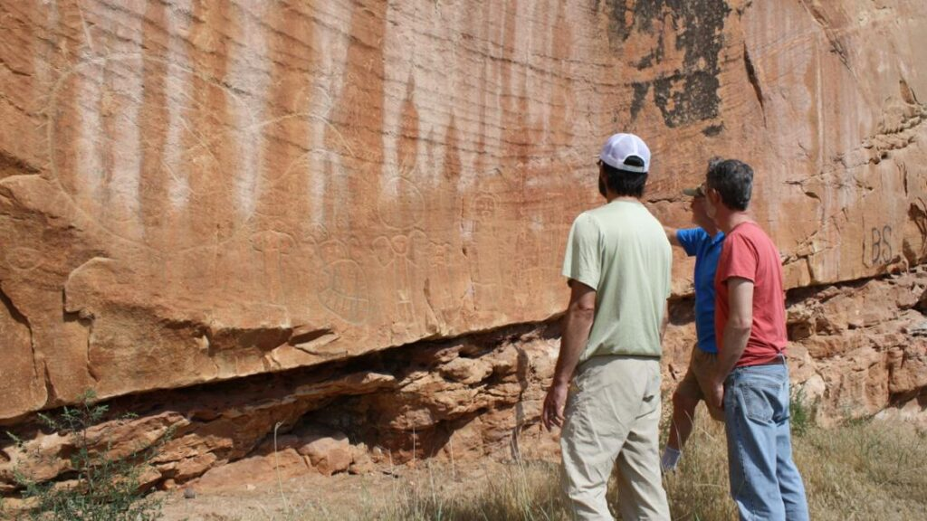 Medicine Lodge State Archaeological Site is home to Native American petroglyphs and pictographs dating back more than 10,000 years.