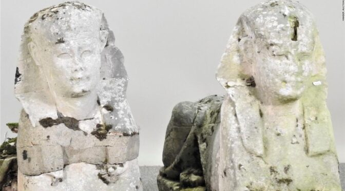 Garden statues turn out to be ancient Egyptian relics, selling for $265,000