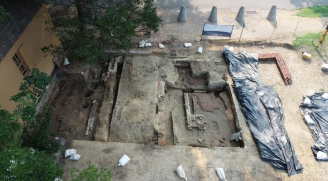 Historic First Baptist Church Original Permanent Structure Discovered During Archaeological Dig