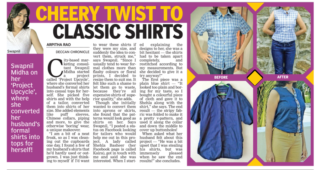 Feature in the Deccan Chronicle newspaper