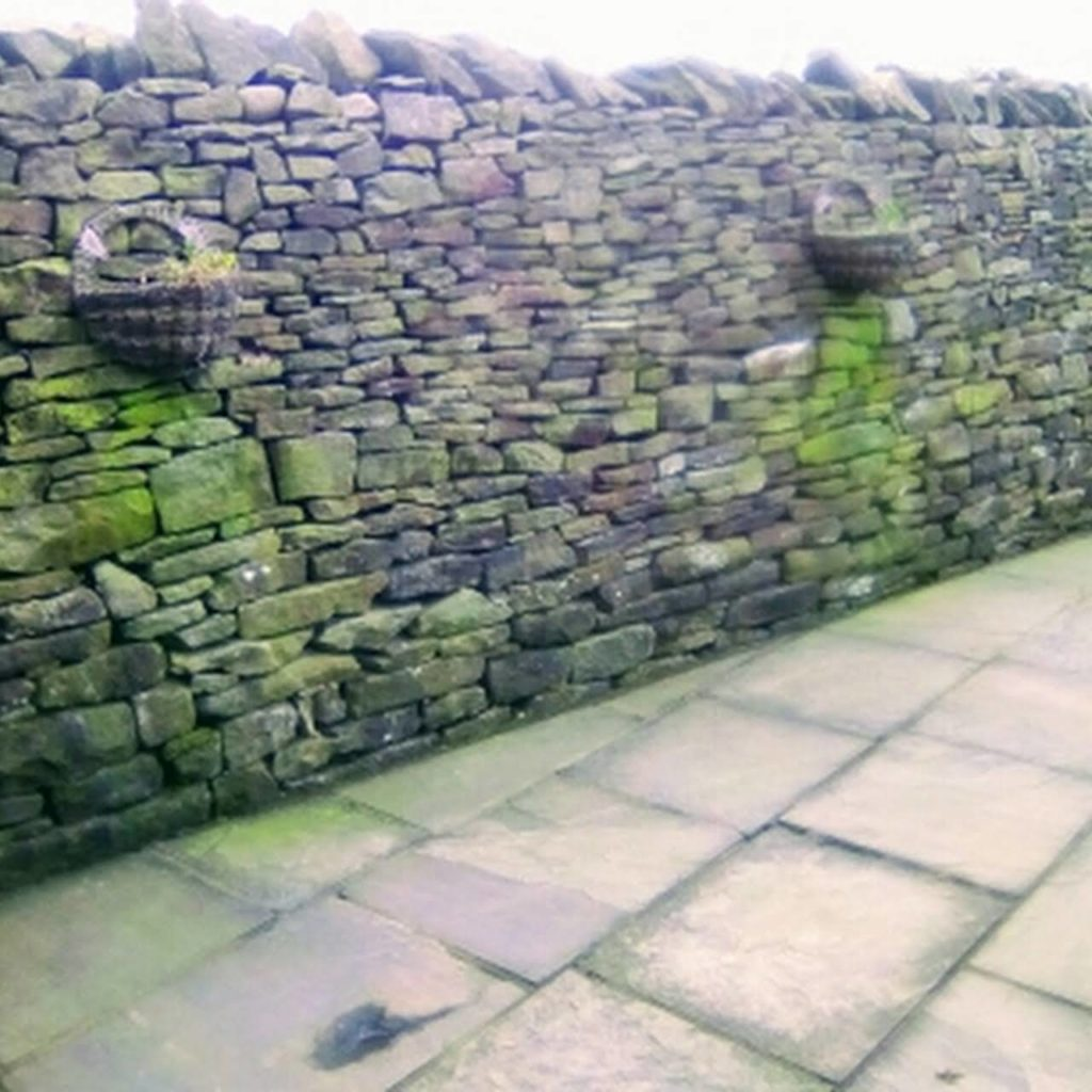 dry stone wall in Longridge, Ribble Valley from 6 years ago.