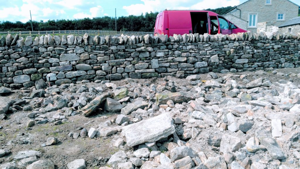Dry stone wall gap repair near Pendle (Summer/Autumn 2018)